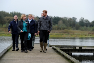 Prince Harry and Anne Selby at Brockholes