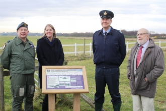 War Tribute at Freshfield Dune Heath Nature Reserve