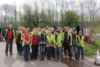 Brockholes volunteers and staff by Ellen Sherlock