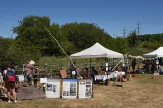 Stalls and activities at the crafty day at Heysham Nature Reserve