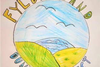 The winning logo designed by a young girl for the Fylde Sand Dunes project