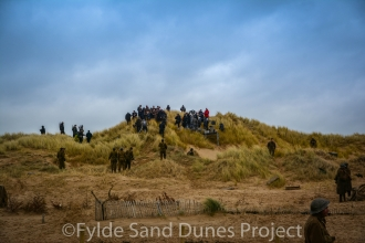 The BBC filming World War II drama 'World on Fire' on the Fylde Sand Dunes