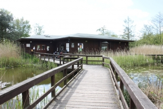 Part of the old Visitor Centre that will remain at Mere Sands Wood