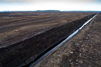 The devastation of peat extraction on Chat Moss in Manchester