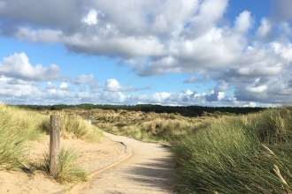 Sand dunes at Freshfield Dune Heath