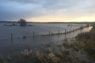 Lunt meadows flooded January 2021