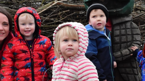 Children on a Nature Tots session at Brockholes Nature Reserve in Preston
