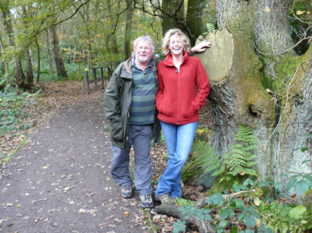 Bill Oddie and Kate Humble at Mere Sands Wood for Autumn Watch