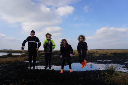 Bog Hop event on Little Woolden Moss
