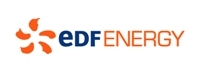 The logo of EDF Energy, our 'Connecting to Nature' sponsor for Heysham Nature Reserve