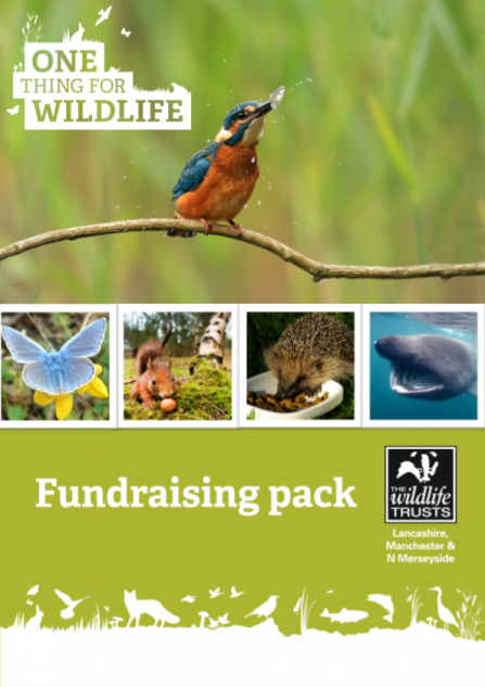 Front cover of the Lancashire Wildlife Trust fundraising pack