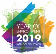 Logo for the Year of the Environment 2019: Liverpool City Region initiative