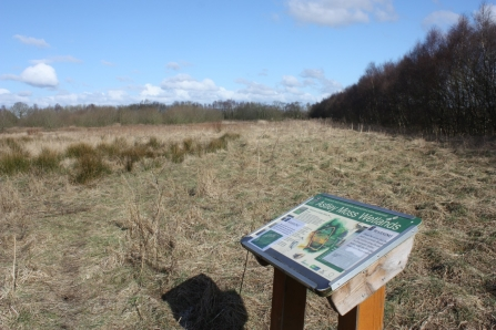 The entrance to Lancashire Wildlife Trust's Astley Moss nature reserve