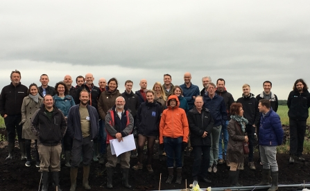 The Care Peat project teams on Little Woolden Moss by Alan Wright