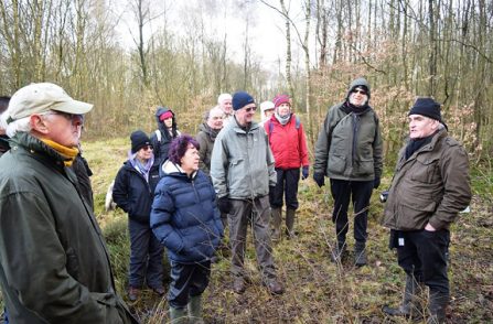 Mike Fisher of the GPAG leading a guided walk in local woodland