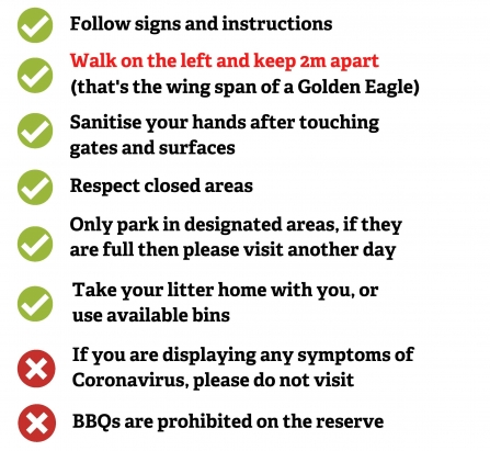 The Lancashire Wildlife Trust Visitor Code of Conduct for safety during COVID-19