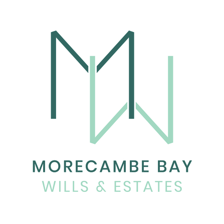 Two versions of the letter M - one upside down - which are the logo of Morecambe Bay Wills and Estates
