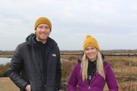 Simon and Ellen from Standby Productions at Little Woolden Moss