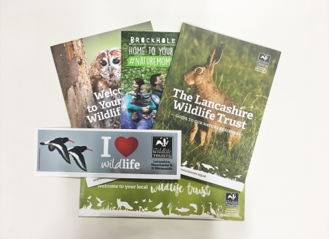 The membership pack for new members of Lancashire Wildlife Trust